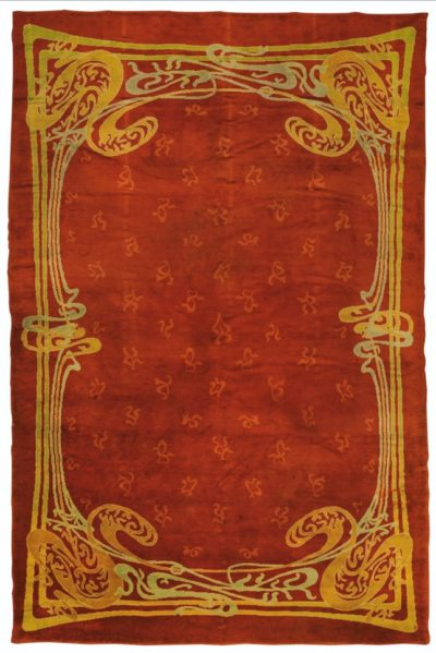 Restauro tappeto art-nouveau, Hector Guimard