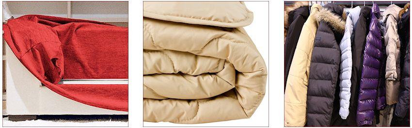 Lavaggio divani sfoderabili con smontaggio e montaggio, piumoni e giacche a vento