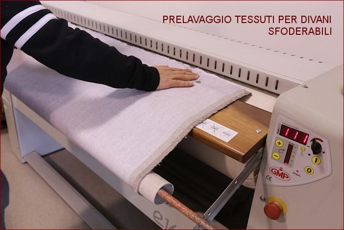 prelavaggio tessuti per fodere divani