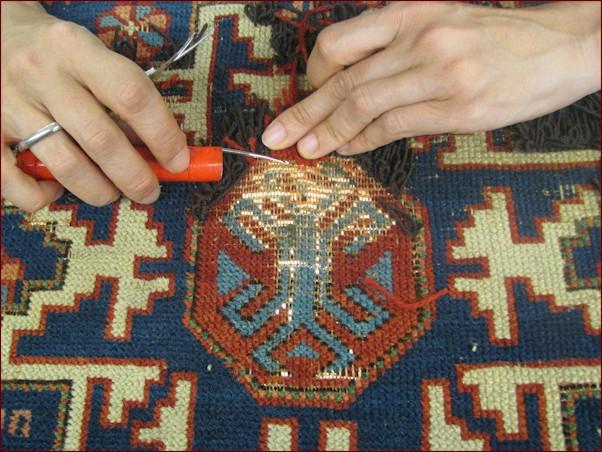 restauro tappeto