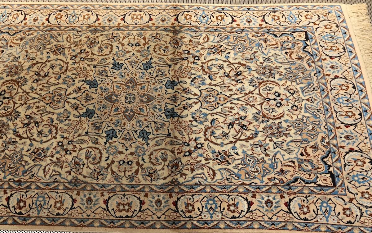 Tappeto nain tappeto nain kashmar blu x cm verifica la - Lavaggio tappeti in casa ...