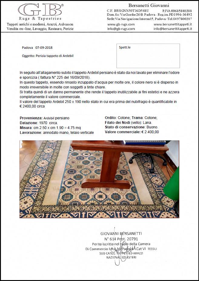 perizie tappeti BersanettiTappeti Padova